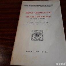Libros antiguos: LIBRO INDICE ONOMASTICO. Lote 146518326
