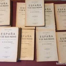 Libros antiguos: HISTORIA DE ESPAÑA Y DE SUS INDIAS D. VICTOR GEBHARDT. V EDICIÓN. CIRCA 1899. TASSO. Lote 146528698