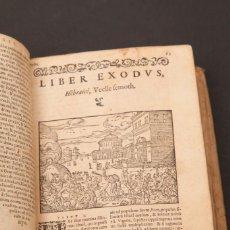 Libros antiguos: BIBLIA SACRA AD OPTIME QUAEQUE VETERIS... - C. 1550. Lote 146539030