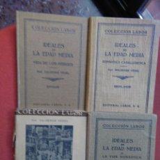 Libros antiguos: VALDEMAR VEDEL, IDEALES DE LA EDAD MEDIA. VOL. I, II, III Y IV. Lote 146582914