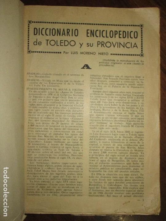 CICCIONARIO ENCICLOPEDICO DE TOLEDO LIBRO ANTIGUO LUIS MORENO (Libros Antiguos, Raros y Curiosos - Bellas artes, ocio y coleccionismo - Otros)