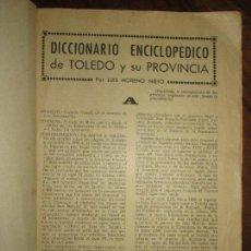 Libros antiguos: CICCIONARIO ENCICLOPEDICO DE TOLEDO LIBRO ANTIGUO LUIS MORENO. Lote 146602734