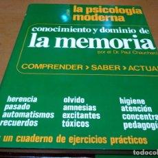 Libros antiguos: CONOCIMIENTO Y DOMINIO DE LA MEMORIA. Lote 146689178