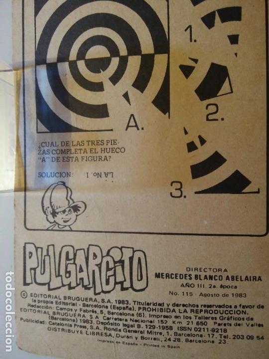 Libros antiguos: Pulgarcito-BRUGUERA Editorial-Año1983-3 tebeos en uno-N.115 - Foto 4 - 146748886