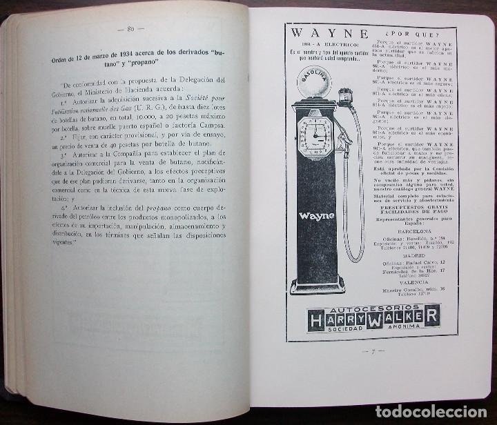 Libros antiguos: ANUARIO DEL MONOPOLIO DE PETROLEOS 1933 - 1934. A. LOPEZ HIDALGO - Foto 3 - 146778186