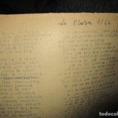 Libros antiguos: LA PLAZA LIBRO ORIGINAL INEDITO SOBRE ALCANTARILLA RELIGION ESCUELAS 86 PGS CARLOS HERREROS MUÑOZ. Lote 146812946