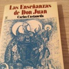 Livres anciens: LAS ENSEÑANZAS DE DON JUAN. CARLOS CASTANEDA.. Lote 146897442