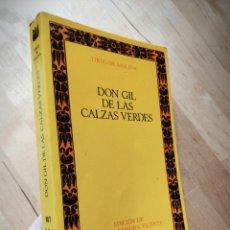 Libros antiguos: DON GIL DE LAS CALZAS VERDES - TIRSO DE MOLINA - 1993 - EDITORIAL CASTALIA. Lote 146911582
