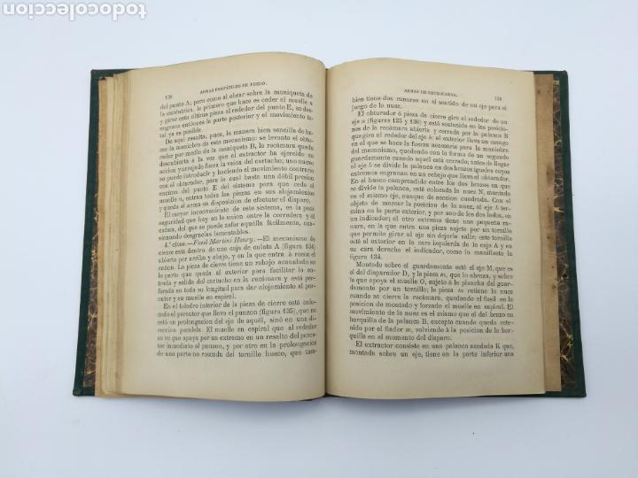 Libros antiguos: armas portatiles de fuego estudios elementales 1881 Manuel Cano con laminas desplegables. - Foto 3 - 146914866