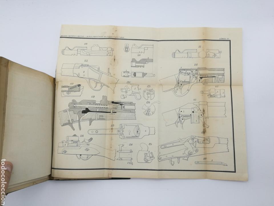 Libros antiguos: armas portatiles de fuego estudios elementales 1881 Manuel Cano con laminas desplegables. - Foto 8 - 146914866