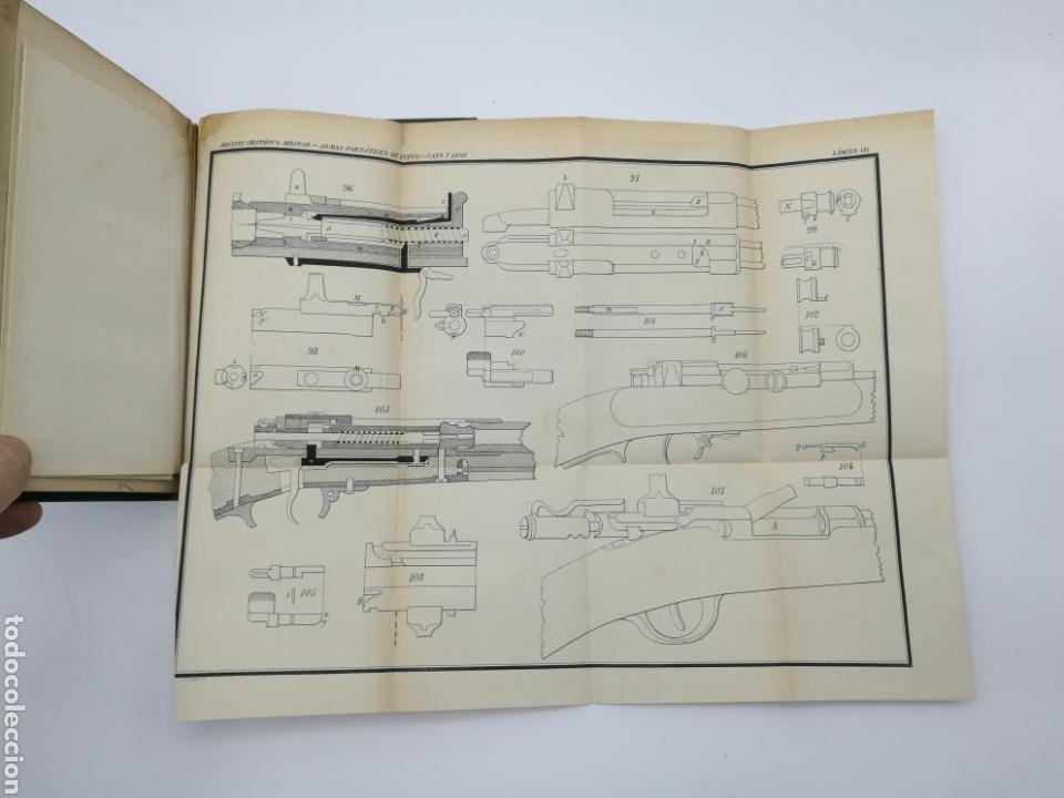 Libros antiguos: armas portatiles de fuego estudios elementales 1881 Manuel Cano con laminas desplegables. - Foto 9 - 146914866