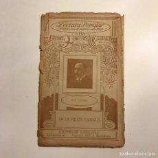 Libros antiguos: LECTURA POPULAR: BIBLIOTECA D'AUTORS CATALANS: DELS MEUS VARALS. PERE VAYREDA. Lote 146956122