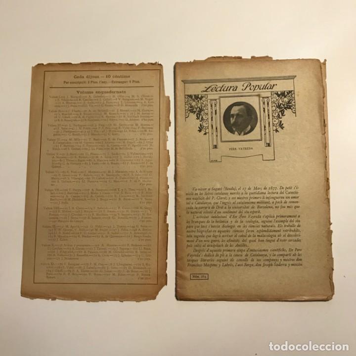 Libros antiguos: Lectura Popular: Biblioteca dautors catalans: Dels meus varals. Pere Vayreda - Foto 2 - 146956122