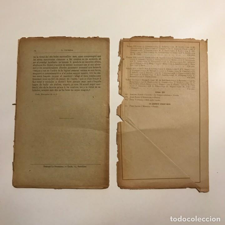 Libros antiguos: Lectura Popular: Biblioteca dautors catalans: Dels meus varals. Pere Vayreda - Foto 3 - 146956122