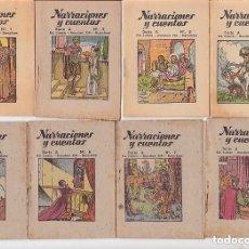 Libros antiguos: NARRACIONES Y CUENTOS - 12 NºS - COMPLETA. Lote 163876188