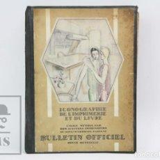 Libros antiguos: LIBRO EN FRANCÉS - BULLETIN OFFICIEL. ICONOGRAPHIE DE L'IMPRIMERIE ET DU LIVRE - PARÍS, AÑOS 20. Lote 147022954