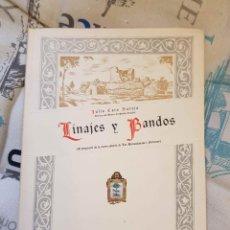 Libros antiguos: LINAJES Y BANDOS (J. CARO BAROJA, DIPUTACIÓN DE VIZCAYA, 1956). Lote 147038338