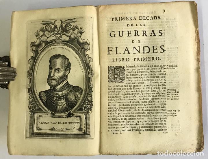 Libros antiguos: PRIMERA DECADA DE LAS GUERRAS DE FLANDES DESDE LA MUERTE DEL EMPERADOR CARLOS V... ESTRADA, Famiano. - Foto 3 - 147045346