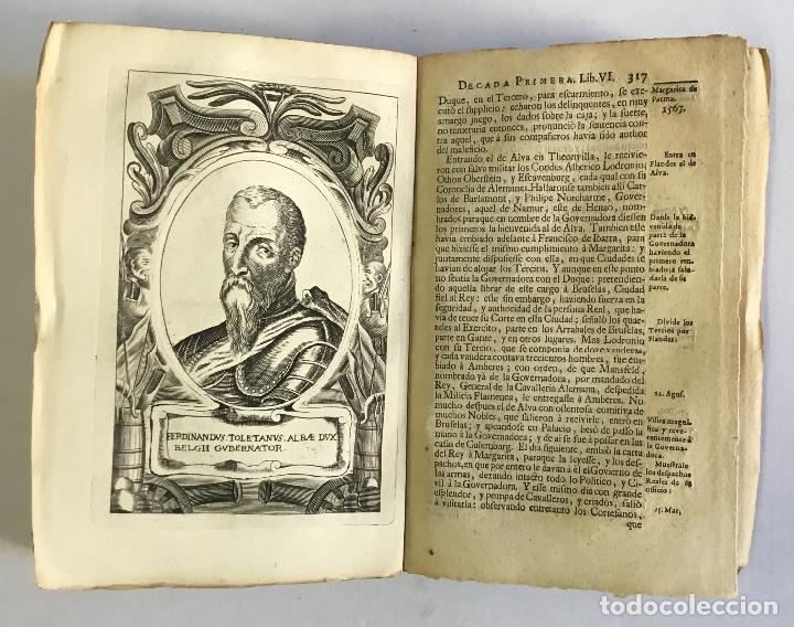 Libros antiguos: PRIMERA DECADA DE LAS GUERRAS DE FLANDES DESDE LA MUERTE DEL EMPERADOR CARLOS V... ESTRADA, Famiano. - Foto 8 - 147045346