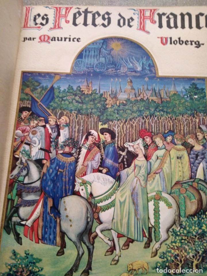 Libros antiguos: Les fetes de France. Coutumes religieuses et populaires 181 heliograbados 1936 - Foto 2 - 147060226