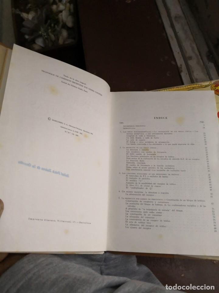 Libros antiguos: Emisión y recepción ondas cortas. EDNS. Marcombo 1961 (305 pág. - 17x24 cm). Encuadernación en tela - Foto 4 - 147103666
