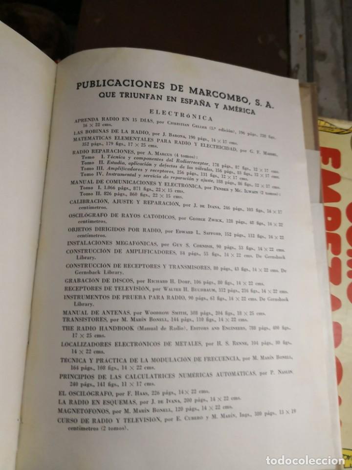 Libros antiguos: Emisión y recepción ondas cortas. EDNS. Marcombo 1961 (305 pág. - 17x24 cm). Encuadernación en tela - Foto 6 - 147103666