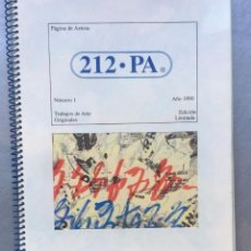 Libros antiguos: 212 - PA. PAGINA DE ARTISTA Nº 1 1990 ORIGINALES DE EDGARDO A. VIGO ESCOMBROS. Lote 147110614