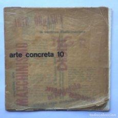 Libros antiguos: BRUNO MUNARI - MOVIMENTO ARTE CONCRETA. M.A.C., MILANO: ARTE CONCRETA 10. Lote 147110638