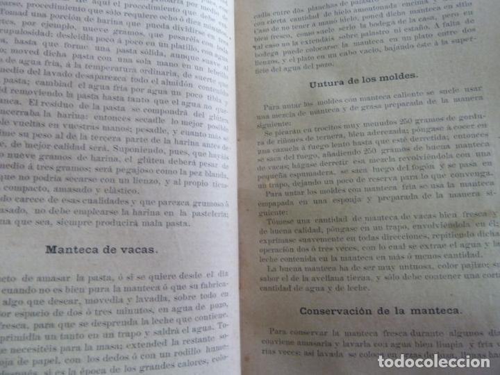 Alte Bücher: EL PASTELERO MODERNO. MANUAL DE PASTELERÍA. SAURI Y SABATER. 1894 - Foto 4 - 147465814