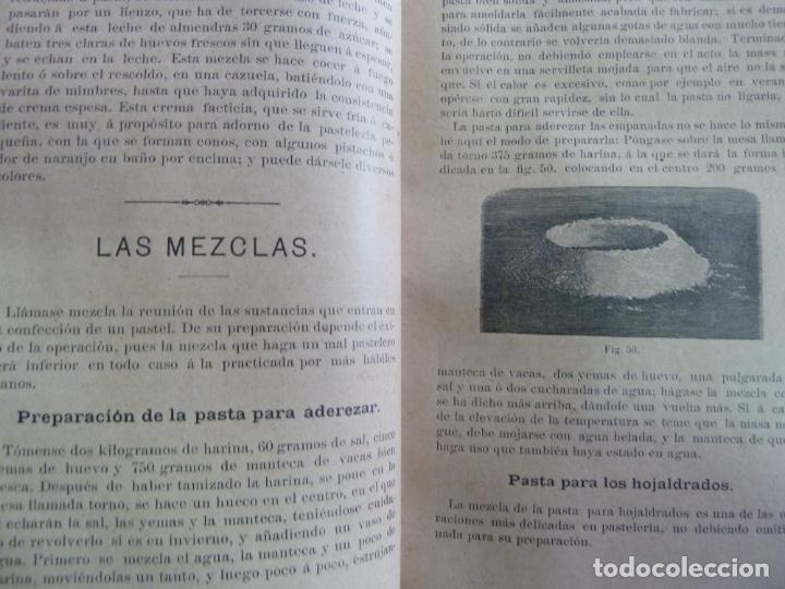 Alte Bücher: EL PASTELERO MODERNO. MANUAL DE PASTELERÍA. SAURI Y SABATER. 1894 - Foto 5 - 147465814