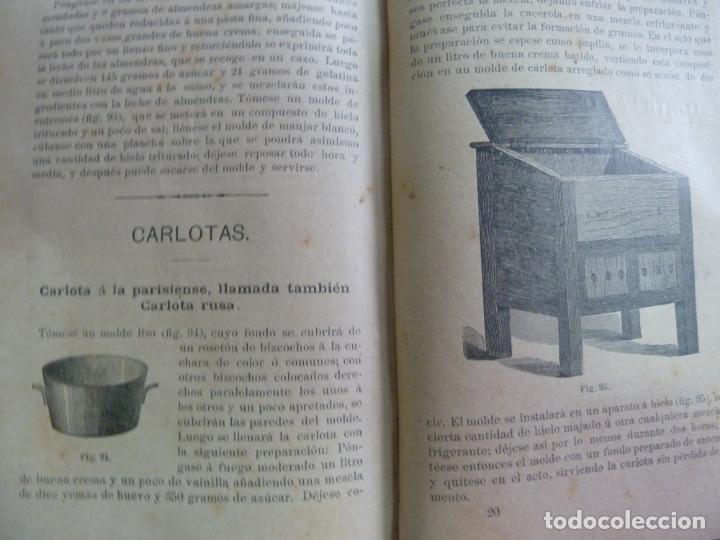 Alte Bücher: EL PASTELERO MODERNO. MANUAL DE PASTELERÍA. SAURI Y SABATER. 1894 - Foto 7 - 147465814