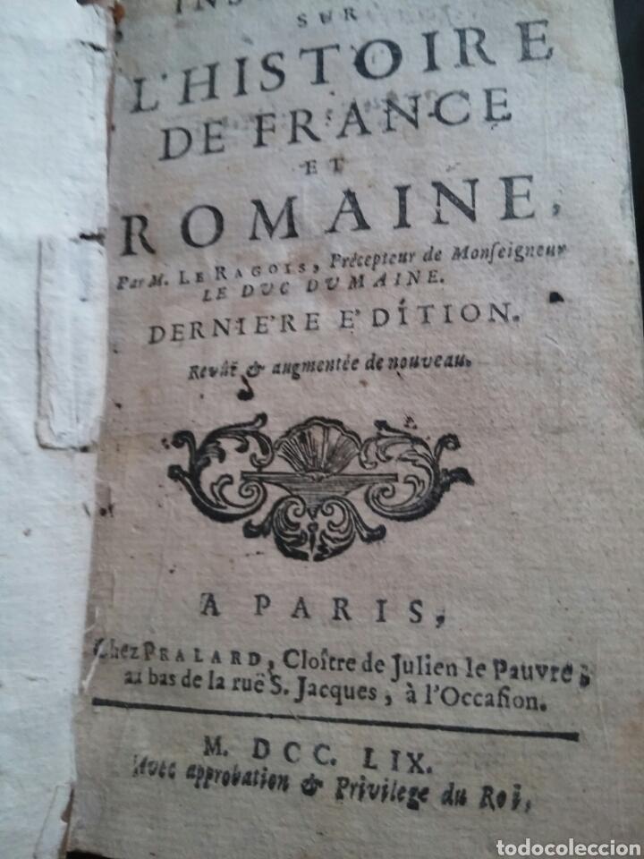 Alte Bücher: Instruction Sur L'histoire de France et Romaine 1.759 - Foto 5 - 147466134
