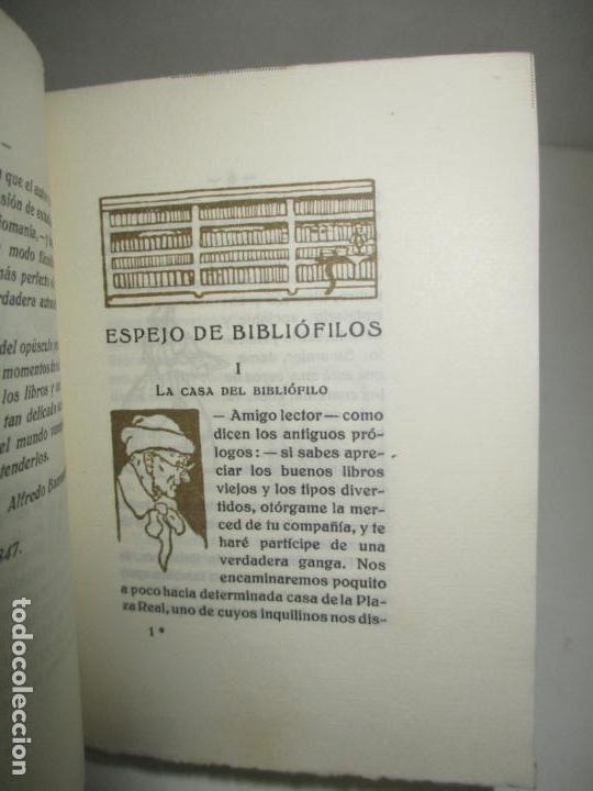 Libros antiguos: ESPEJO DE BIBLIÓFILOS. Novela satírica. BONNARDOT, Alfredo. 1926. BIBLIOFILIA - Foto 3 - 147470006