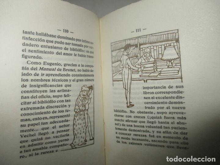 Libros antiguos: ESPEJO DE BIBLIÓFILOS. Novela satírica. BONNARDOT, Alfredo. 1926. BIBLIOFILIA - Foto 5 - 147470006