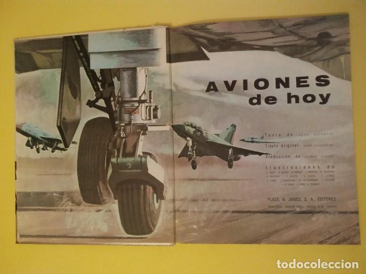 Libros antiguos: Aviones de hoy-Año1971-PLAZA JANES-editorial - Foto 2 - 147482314