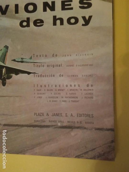 Libros antiguos: Aviones de hoy-Año1971-PLAZA JANES-editorial - Foto 3 - 147482314
