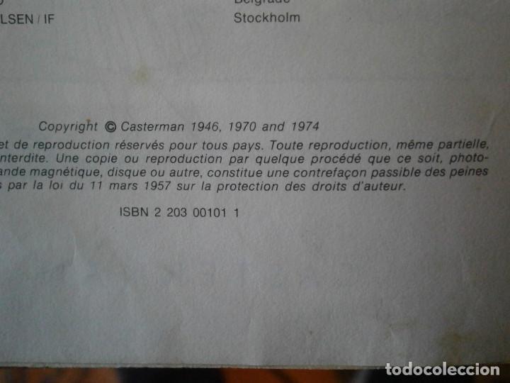 Libros antiguos: LAS AVENTURAS DE TINTIN ..LES BIJOUX DE LA CASTAFIORIORE (CASTERMAN 1946,1970 AND1974) - Foto 8 - 147491298