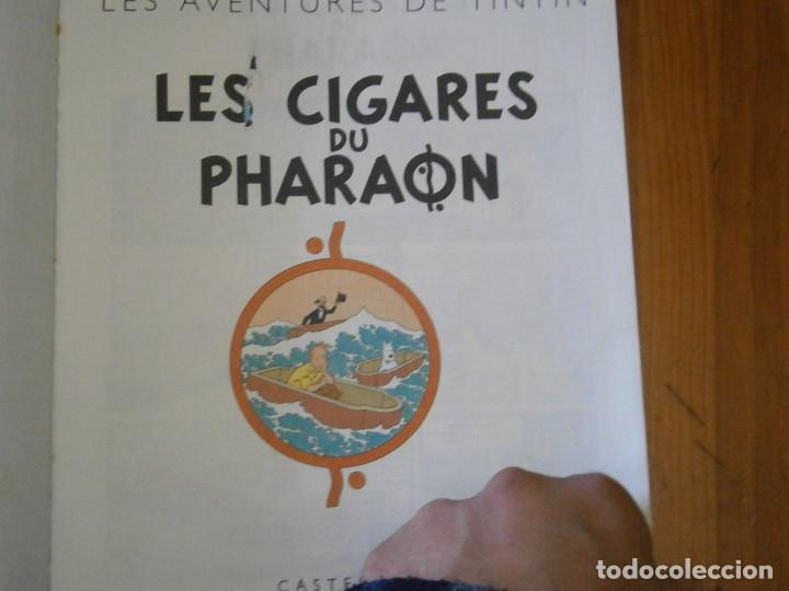 Libros antiguos: LAS AVENTURAS DE TINTIN -LES CIGARES DU PHARAON (CASTERMAN 1955) - Foto 5 - 147491826