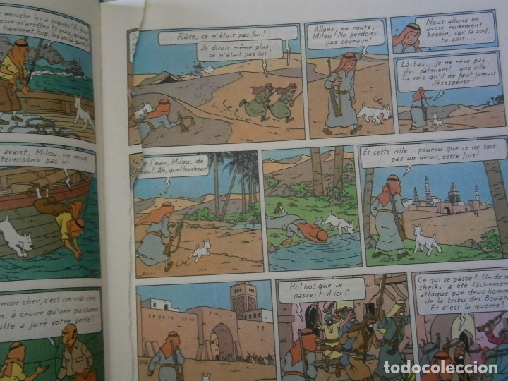 Libros antiguos: LAS AVENTURAS DE TINTIN -LES CIGARES DU PHARAON (CASTERMAN 1955) - Foto 8 - 147491826