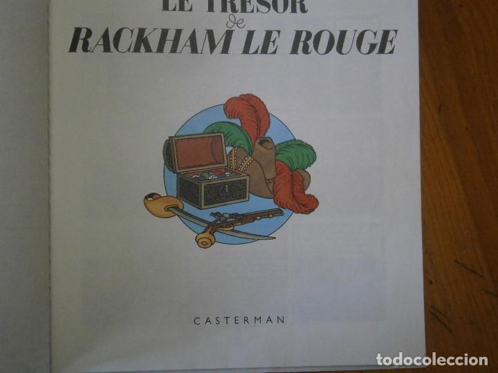 Libros antiguos: HERGE-LES AVENTURES DE TINTIN ..LE TRESOR DE RACKHAM LE ROUGE (CASTERMAN 1987) - Foto 8 - 147494074