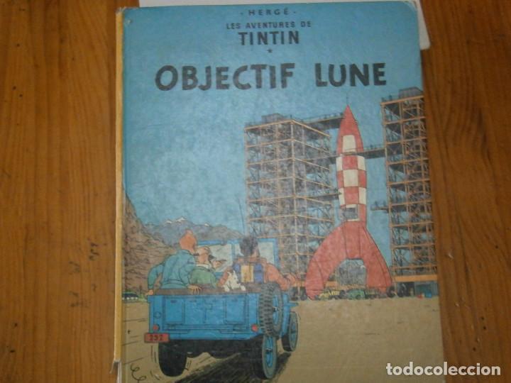 HERGE-LES AVENTURE DE TINTIN..OBJETICTIF LUNE (CASTERMAN ) (Libros Antiguos, Raros y Curiosos - Literatura Infantil y Juvenil - Otros)