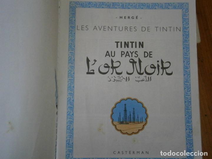 Libros antiguos: LES AVENTURES DE TINTIN-TINTIN AU PAYS DE LOR NOIR (CASTERMAN 1950) - Foto 9 - 147496206