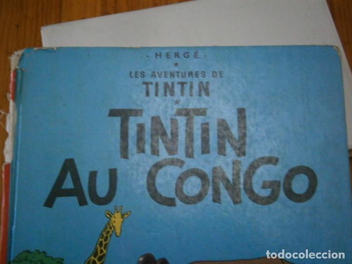 Libros antiguos: HERGE-LES AVENTURES DE TINTIN..TINTIN AU CONGO (CASTERMAN 1970) - Foto 4 - 147497066