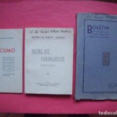 Libros antiguos: CORDOBA.-LUIS RUIZ DE CASTAÑEDA Y AGUIAR.-CASTICISMO.-RICARDO DE MONTIS Y ROMERO.-BOLETIN.-AÑO 1932.. Lote 147508730