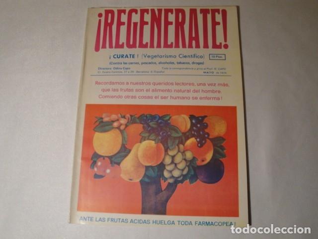 Libros antiguos: Revistas:REGENÉRATE,Director: N. Capo.Enero-Febrero- Marzo-Abril-Mayo-Junio-Agosto y Septiembre 1976 - Foto 4 - 145351106