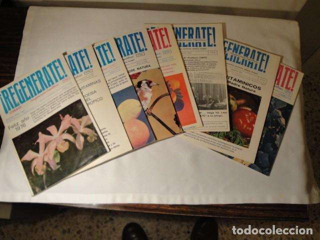 REVISTAS:REGENÉRATE,DIRECTOR: N. CAPO.ENERO-FEBRERO- MARZO-ABRIL-MAYO-JUNIO-AGOSTO Y SEPTIEMBRE 1976 (Libros Antiguos, Raros y Curiosos - Cocina y Gastronomía)