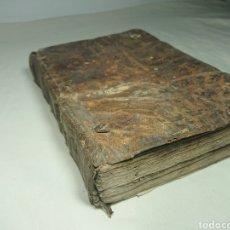 Libros antiguos: THESAURUS HISPANO-LATINUS UTRIUSQUE LINGUE VERBIS & PHRAFIBUS ABUNDANS - SIGLO XVIII - PERGAMINO. Lote 147593880