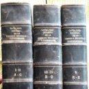 Libros antiguos: CATÁLOGO GENERAL DE LA LIBRERÍA ESPAÑOLA E HISPANOAMERICANA AÑOS 1901-1930. 5 TOMOS EN 3 VOLÚMENES. Lote 147660170