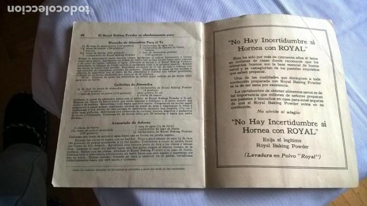 Libros antiguos: Antiguo Libro Royal Recetas Culinarias. - - Foto 4 - 147690278