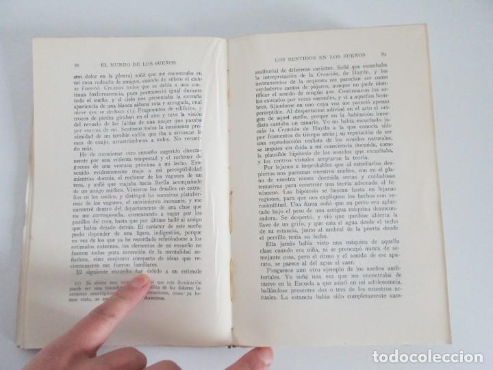 Libros antiguos: EL MUNDO DE LOS SUEÑOS. HAVELOCK ELLIS. CASA EDITORIAL ARALUCE. 1929. VER FOTOGRAFIAS ADJUNTAS - Foto 13 - 147742826